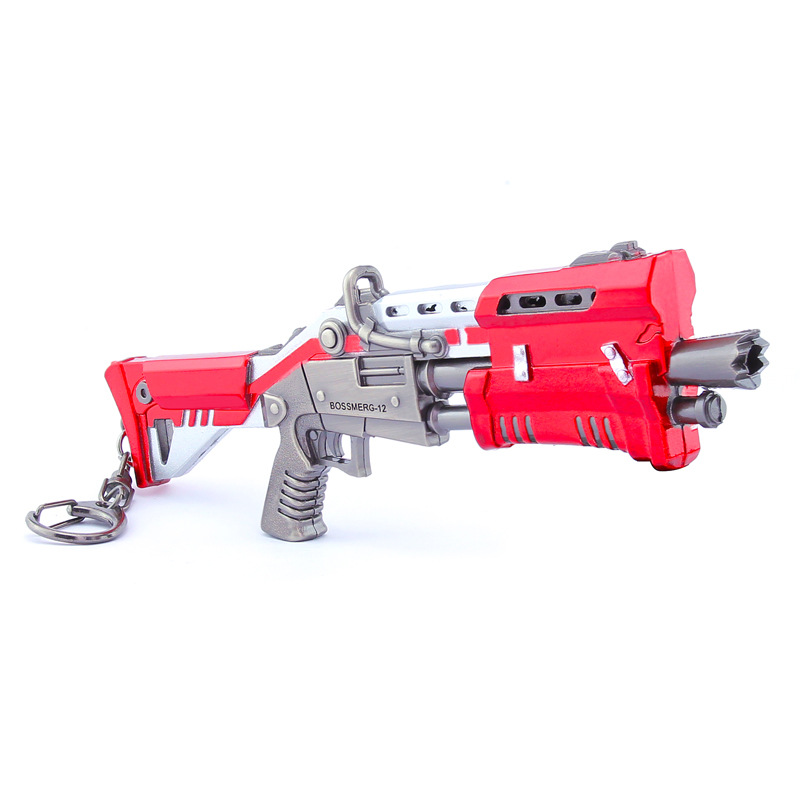 Hot FORTNIGHT Gun model Kids military Toys Gifts Fortnight Keychain Fort Night battle royale Game accessories fortnight keychai toy battle royalen action figure accessories from fortress night scar rifle weapon model alloy weapons pubg