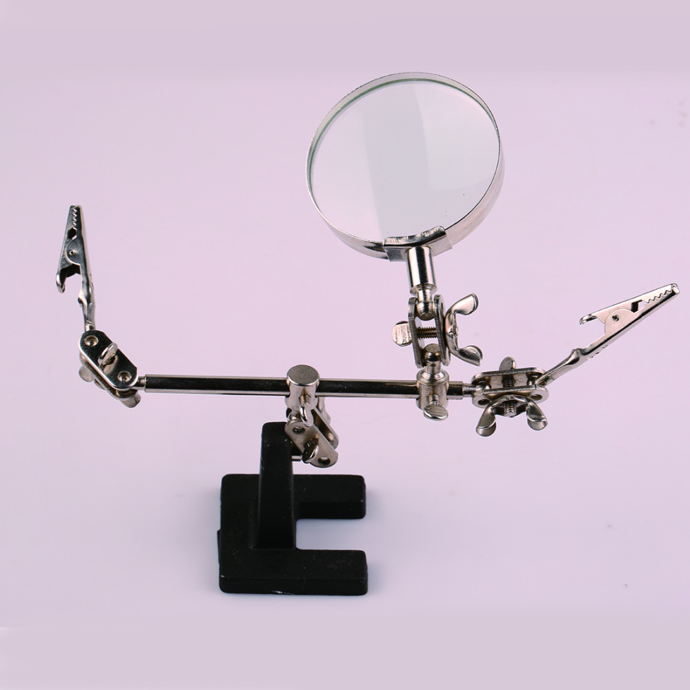 Welding Magnifying glass Auxiliary Clip Magnifier Soldering Solder Iron Stand Holder Station hand soldering iron stand helping clamp magnifying tool auxiliary clip magnifier station holder