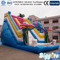Súper Divertido Elefante Forma de Juegos Inflables Para Niños de Juguete de Diapositivas Para Al Aire Libre