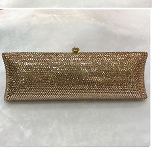 Luxury black gold evening clutch bags red handcraft crystal clutch purse women party evening bags silver green handbags