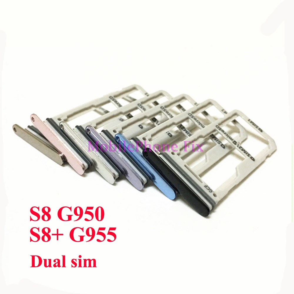 20 PCS Sim Card Tray For Samsung Galaxy S8 G950 S8+ S8 Plus G955 Dual Sim Housing Parts Sim Card Tray Slot Holder Parts