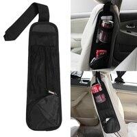 Car Hanging Storage Bag Car Organizer Auto Vehicle Seat Side Bag Pocket Bags Sundries Holder Nylon 37*12cm Black