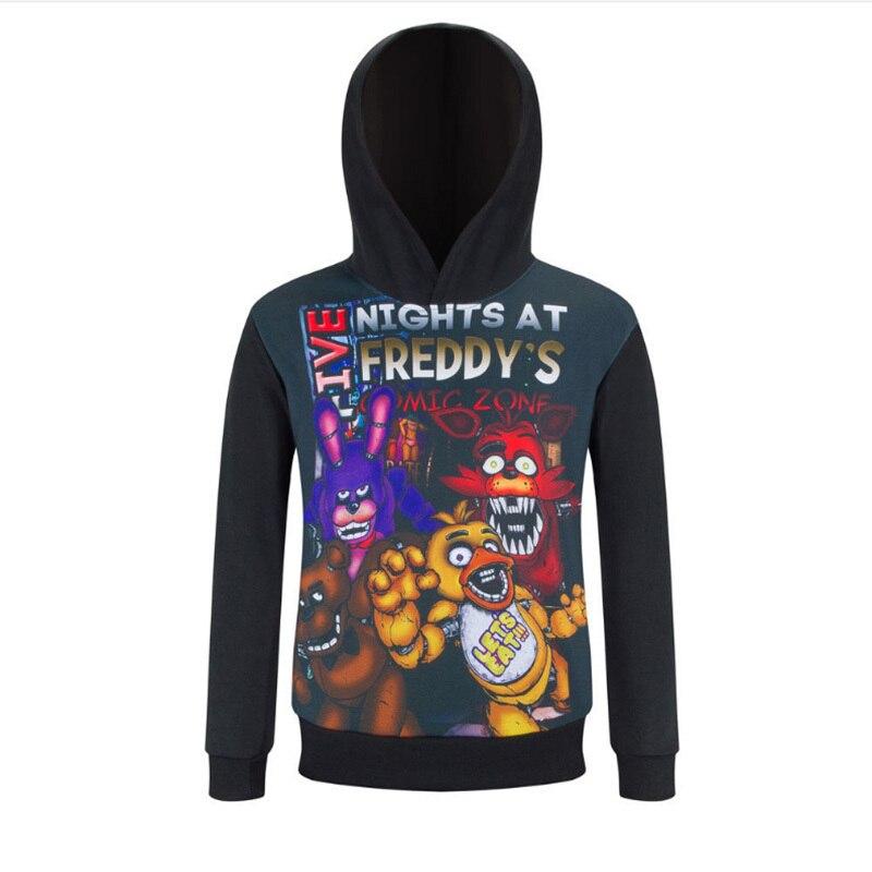 Autumn Five Nights at Freddys mascot Costume Bear Freddys Hoodie Kids Sport Ropa Brand Children Shirts Boys Long Sleeves