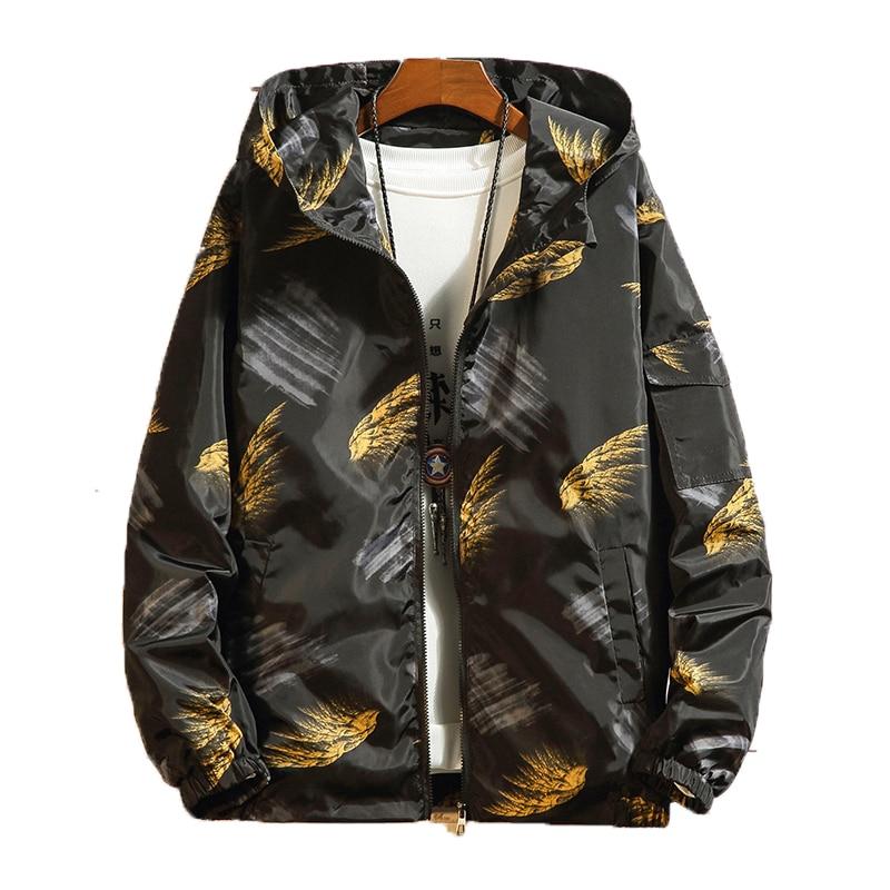 12505646a67 2019 весна куртки Мужская куртка с капюшоном Мода хип хоп Уличная курточка  бомбер для мужчин s колледж студент ветровка мужской пальто M-5XL