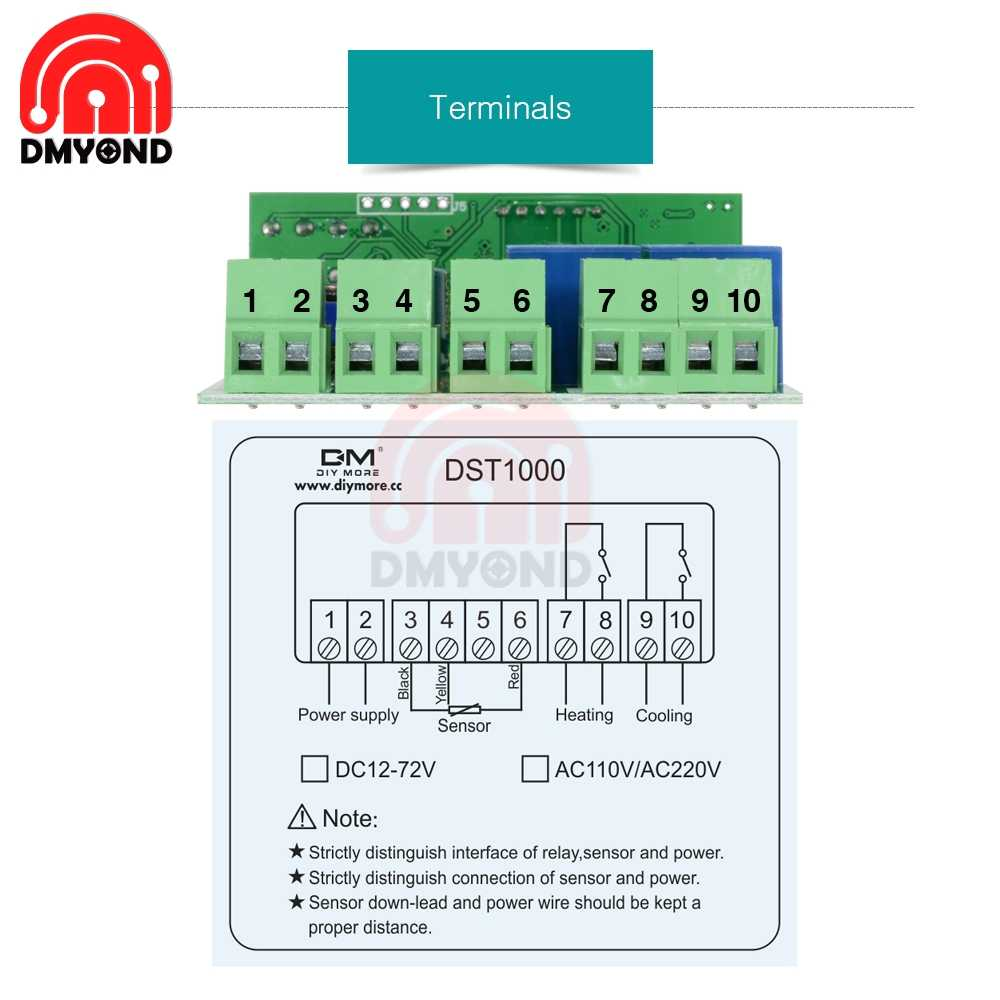 hight resolution of  220v 110v 12v led digital thermostat temperature controller regulator incubator weather station sensor meter replace stc