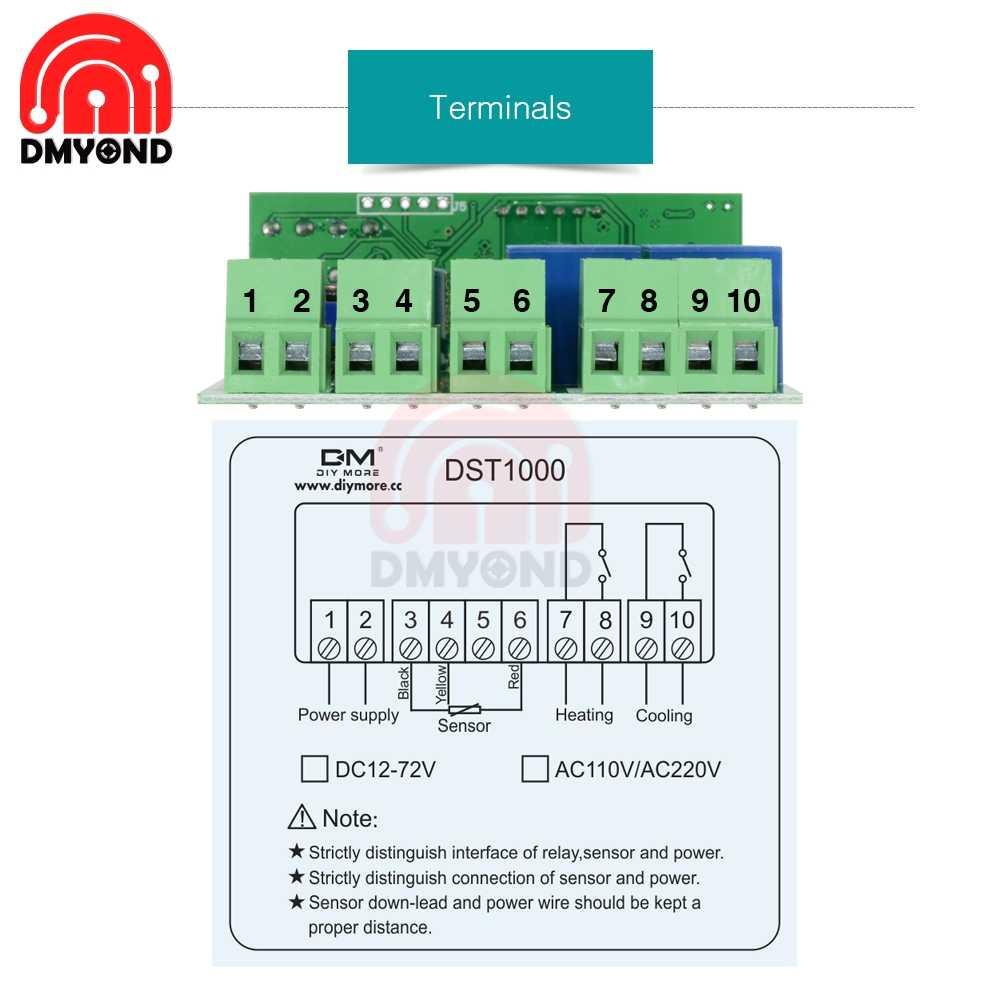 small resolution of  220v 110v 12v led digital thermostat temperature controller regulator incubator weather station sensor meter replace stc