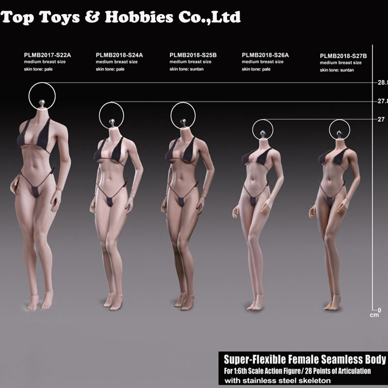 1/6 blady kolor PHICEN tblegue 1/6 super elastyczny kobiet bez szwu drobna ciała S24A/25B/26A/27B dla Lolita Athena głowy