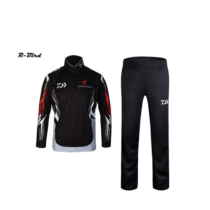 2017 Fishing Clothing Sets Men Breathable UPF 50+ UV Protection Outdoor Sportswear Suit Summer Fishing Shirt Pants l888