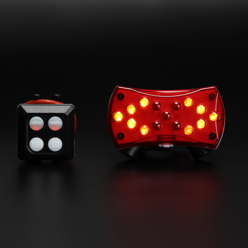 Wireless control Turn signal light for bicycle Turning bike light