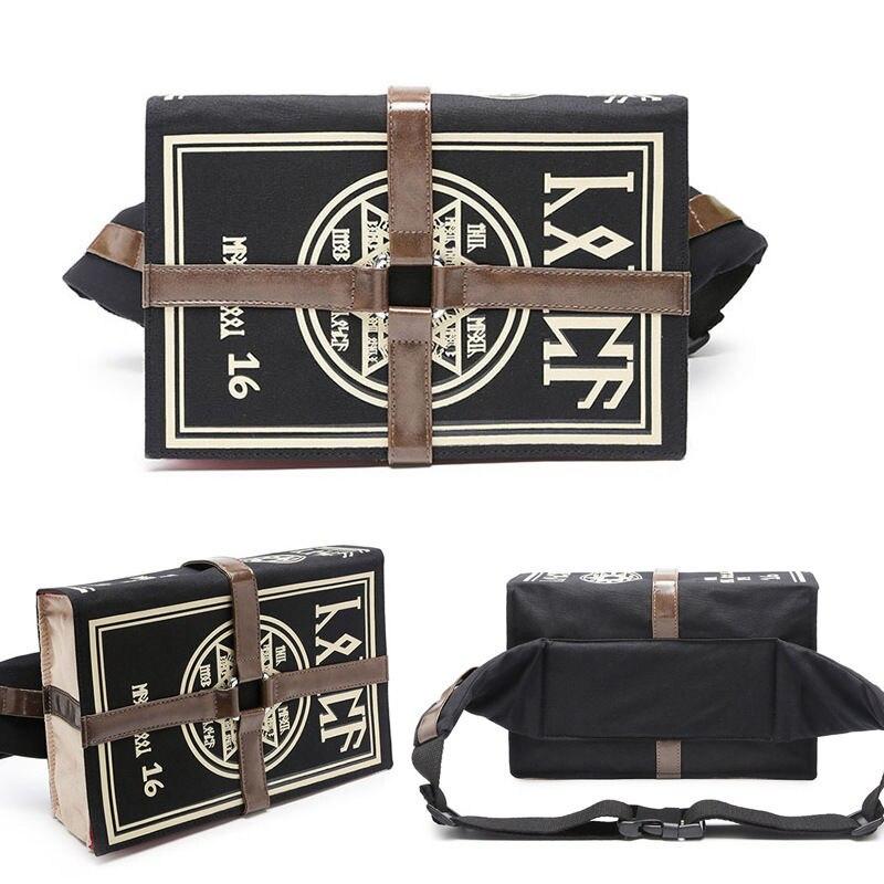 bc04b52481e Mihnah Magic Book Fff Prop Bag Canvas Messenger Bag Vintage Satchel Shoulder  Bag