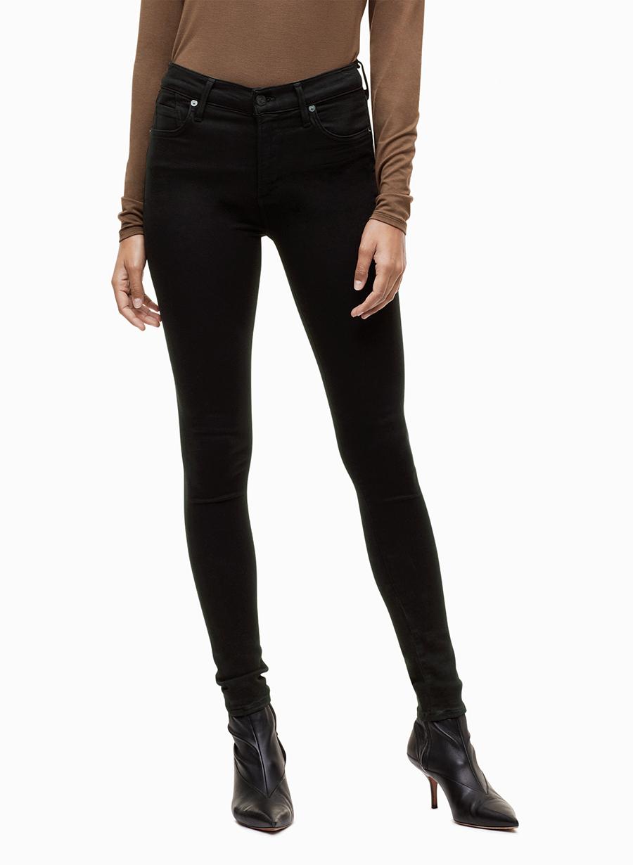 17 Modaberries women skinny jeans black high waist rise in dark 9