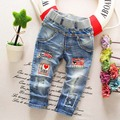 Alta calidad 2016 primavera y otoño niños pantalones bebé de los muchachos joker tramo vaqueros niños pantalones vaqueros