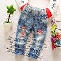 Alta qualidade 2016 primavera e outono crianças calças meninos de jeans crianças calças Stretch coringa