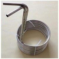 Super Efficient 3/8 x 25' food grade 304 stainless steel Wort Chiller beer cooling coil or malt juice cooler for homebrew
