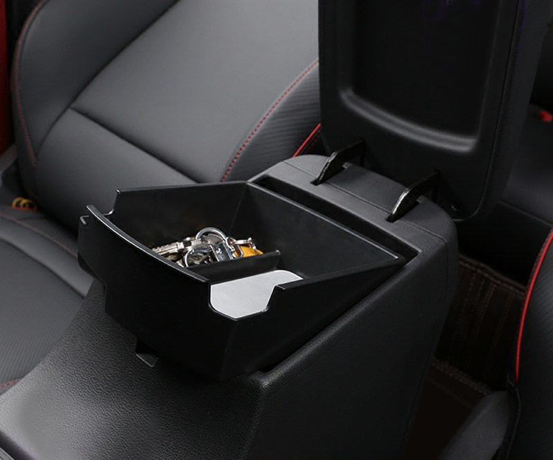 Container-Tray Organizer Storage-Box Car-Styling-Accessories Hyundai Kona Plastic Armrest