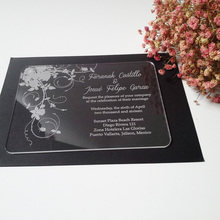 font b Customized b font sample for 5 7inch clear acrylic wedding font b invitation