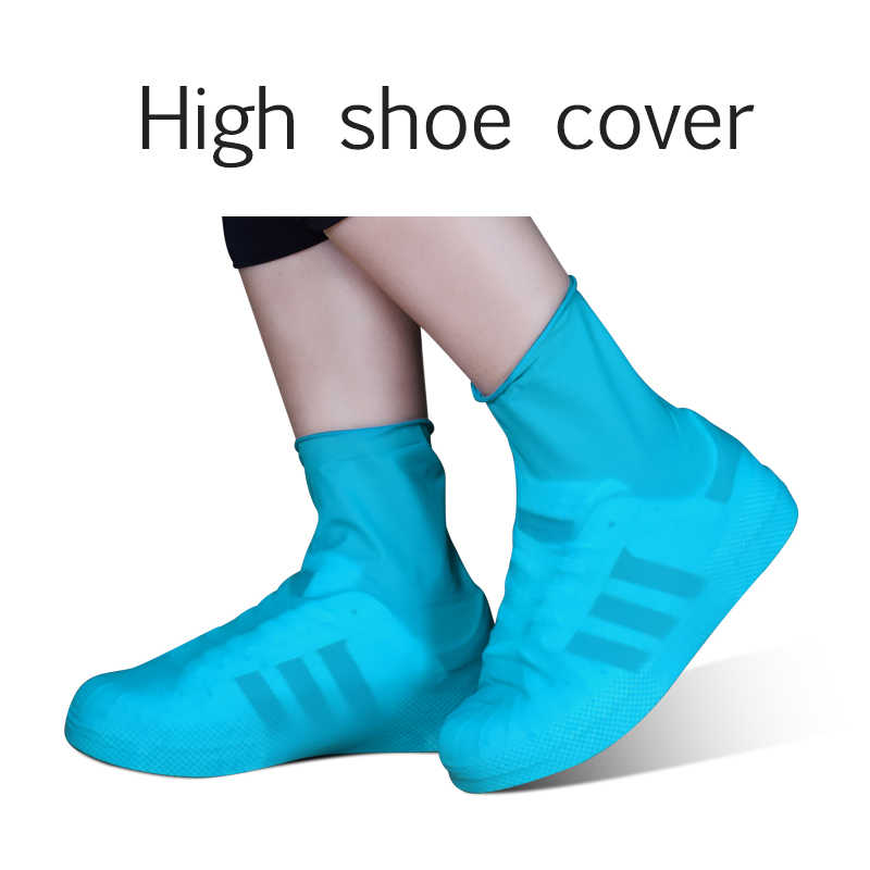 Silicone Reusable Latex Waterproof Rain Shoes Covers Slip-resistant Unisex