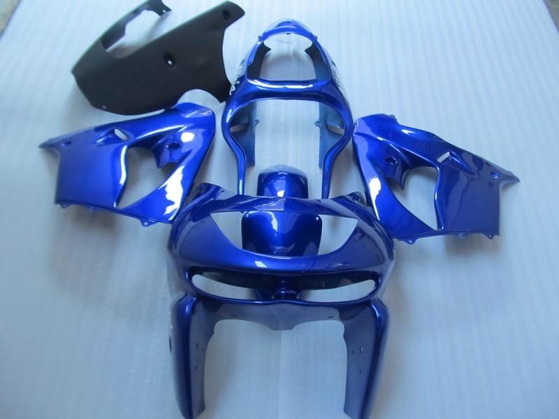 Full ABS plastic fairing kit for Kawasaki ZX9R 98 99 blue fairings set ZX9R 1998 1999 OT15 full body plastic fairing kit set for