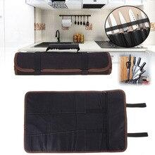 Портативный поварской нож Сумка рулон 14 карманов с ручками чехол для переноски кухонные сумки для хранения DAG