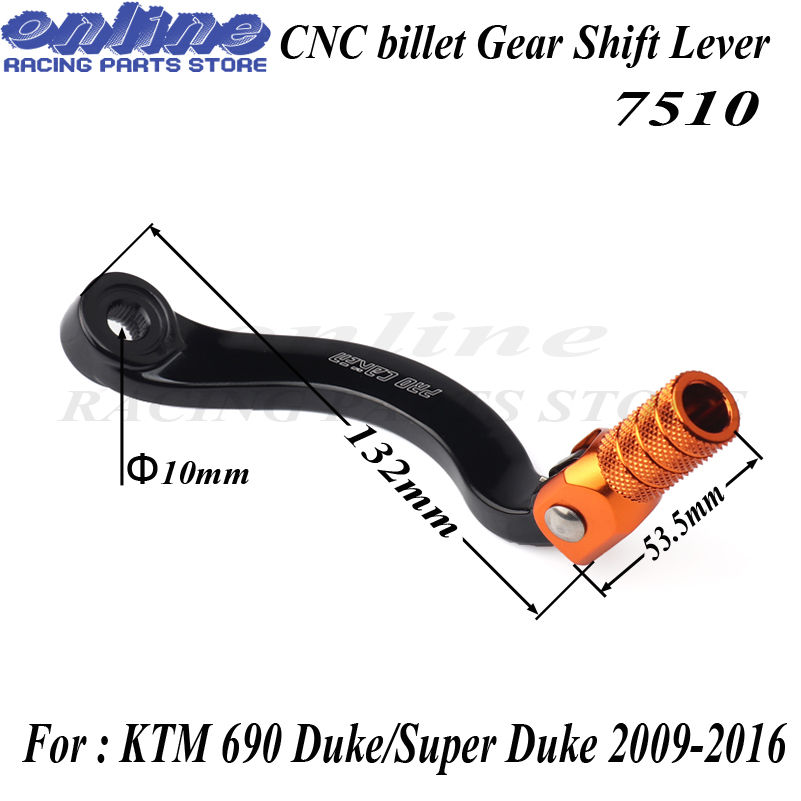 Motorcycle CNC Folding Tip Gear Pedal Shift Lever For KTM 690 Duke 2009 2017 690 Enduro