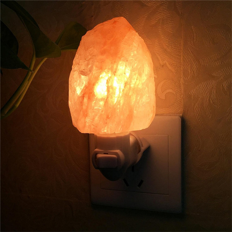 Newest Night Light Himalayan Salt Lamp Air Purifier Crystal Salt Rock Bedside Night Light For Children's Bedroom Light