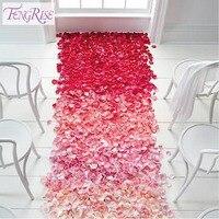 500pcs Favor Table Decoration Silk Petals Rose Flower Engagement Wedding Christmas Party Celebrations