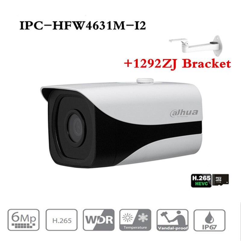 D'origine ahua 6MP 3072*2048 IP caméra DH-IPC-HFW4631M-I2 Bullet IR 80 m Imperméable À L'eau en plein air full HD Soutien POE IPC-HFW4631M-I2