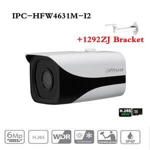 Image 1 - Original Dahua 6MP 3072*2048 IP camera DH IPC HFW4631M I2 Bullet IR 80M Waterproof outdoor full HD Support POE IPC HFW4631M I2
