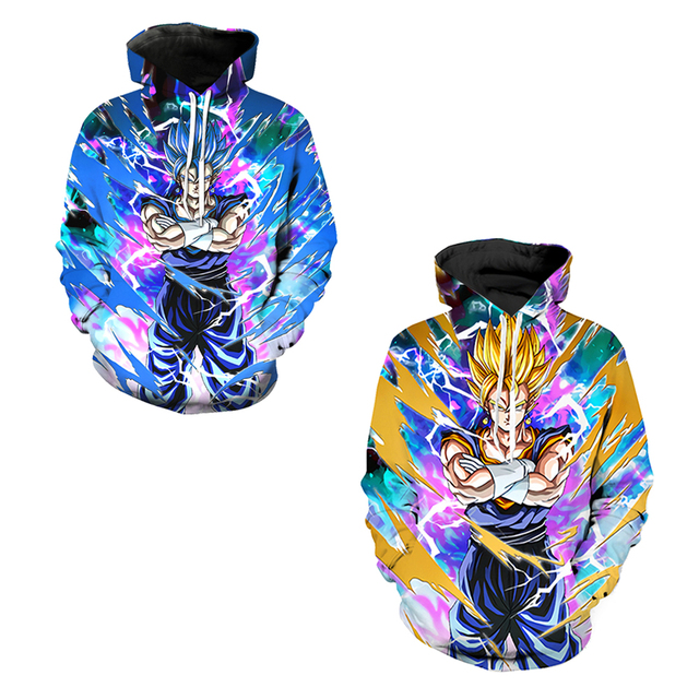 c1bcfac83c17 Vegito Super Saiyan Men Sweatshirts Autumn Skateboarding Hoodies Dragon  Ball Z Goku Super Saiyan Hooded Tops Hoody Tracksuit
