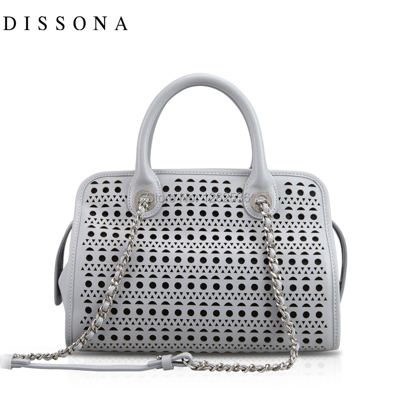Dissona 2017 New Arrival Women S Chain Shoulder Bag Cowhide Geometry 8141a31101 Cutout In Bags From Luggage On Aliexpress Alibaba