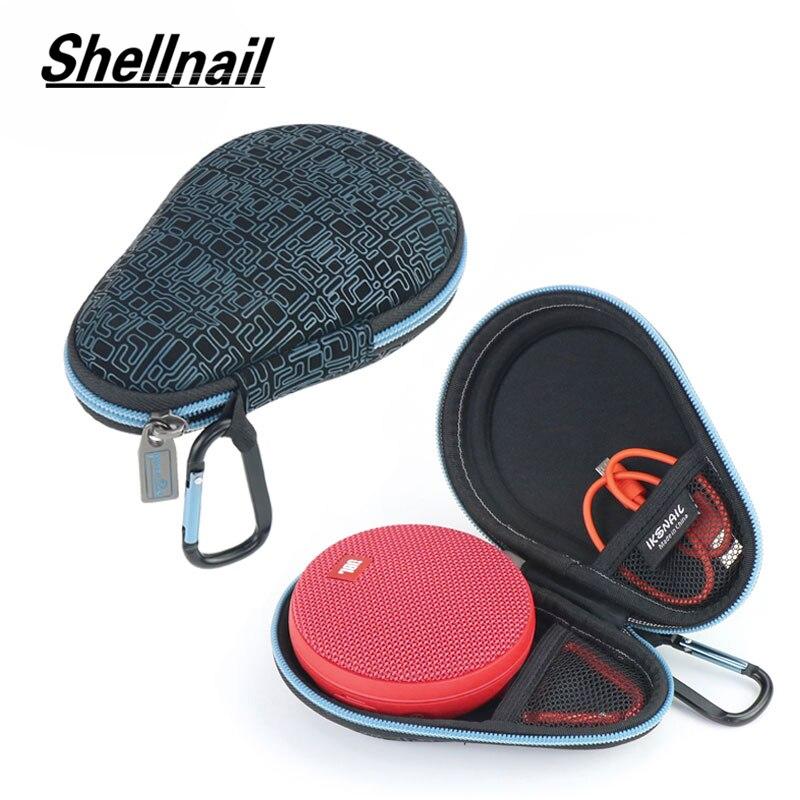 Shellnail Bluetooth Speaker Travel Bag For JBL Clip 2 Wireless Speakers Soundbox Storage Box Pouch Protector Carry EVA Hard Case