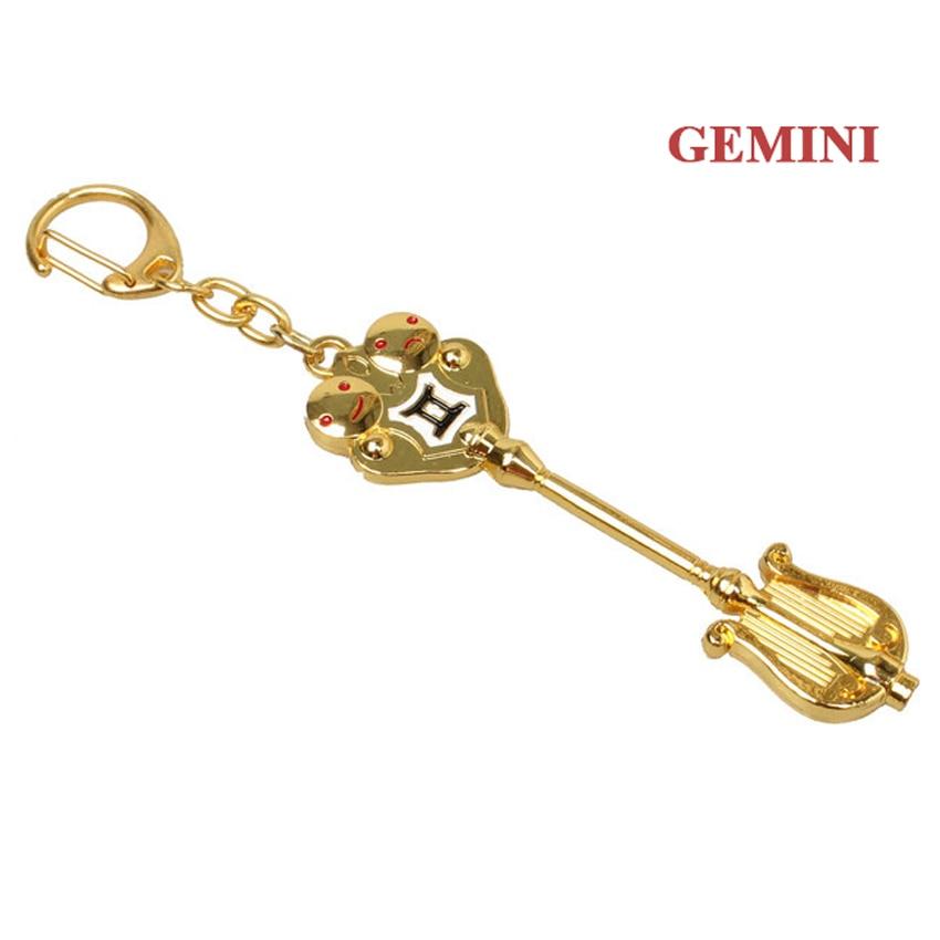 Модный Сказочный хвост, Зодиак, звезда, дух волшебника, Lucy, вызовет ключ, 12 ключей, брелок для ключей «Созвездие», косплей, подарок - Цвет: Gemini