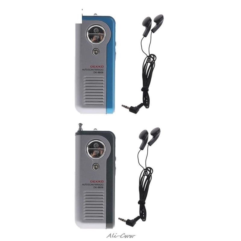 Mini Tragbare Auto Scan Fm Radio Empfänger Clip Mit Taschenlampe Kopfhörer Dk-8809 Durchblutung GläTten Und Schmerzen Stoppen Tragbares Audio & Video