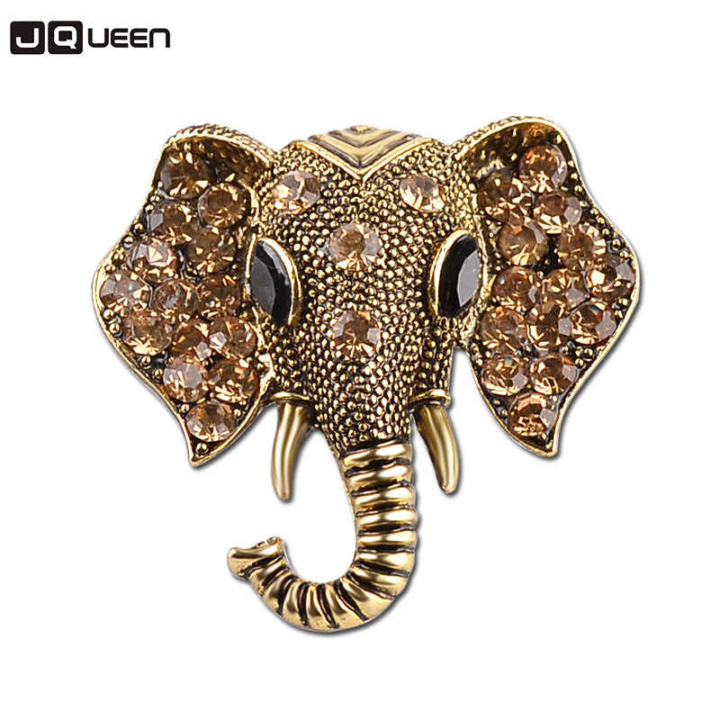 Top venda Liga cristal Broche Elefante auspicioso Criativo animais fêmeas broches pin