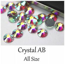 AAAAA grade 99% Similar Swa AB Color Crystal Hotfix Flatback Rhinestones Iron stone Clothing garment sewing stones