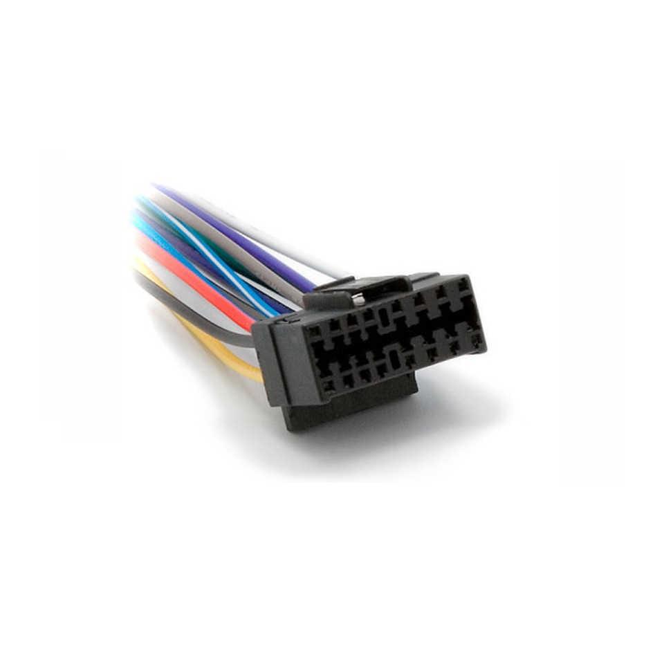 hight resolution of  car iso wiring harness for sony cd cdx xav jvc kd ks kw power loom radio
