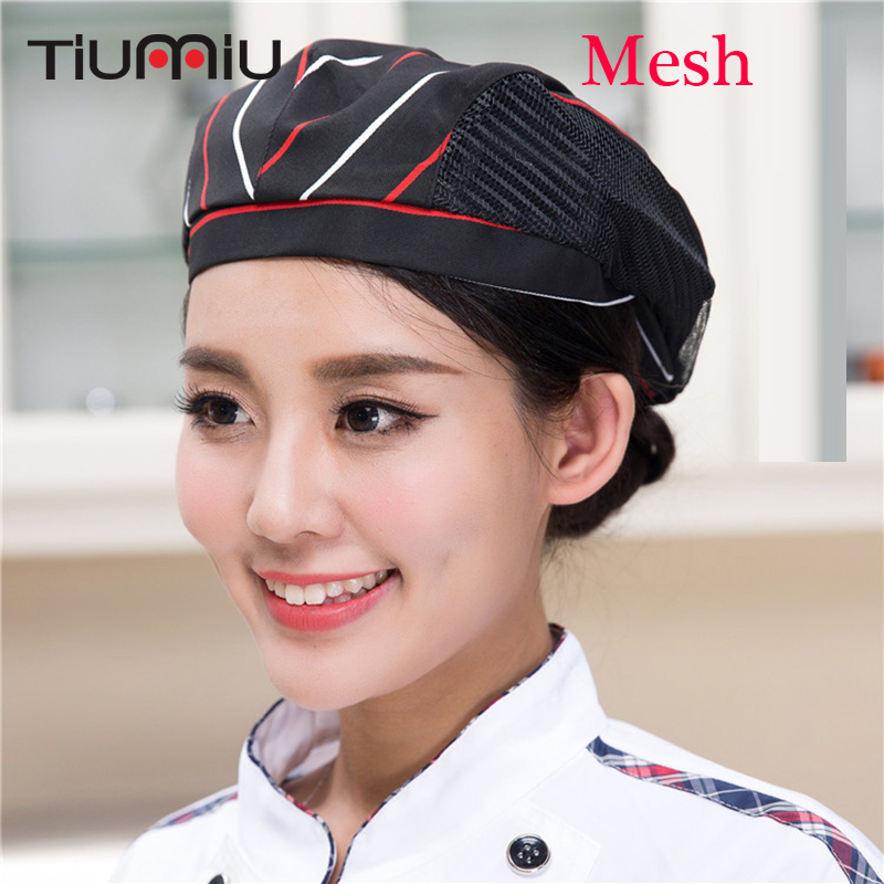 5 Pc/Lot Unisex Mesh Forward Cap Cafe Bar Kitchen Restaurant Hotel Bakery Waiter Chef Workwear Hat Men Women Breathable Work Cap