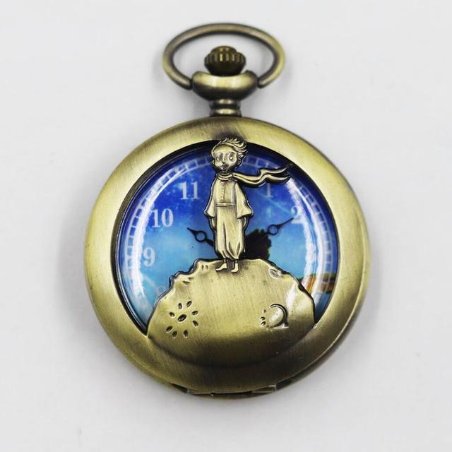 Hot Selling Classic The Little Prince Movie Planet Blue Bronze Vintage Quartz Po
