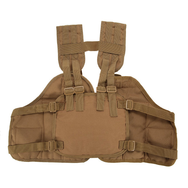 Outdoor Hunting Vest Tactical Chest Rig Pouch Magazine Holder Bag Platform Polyester Adjule Padded Modular Military