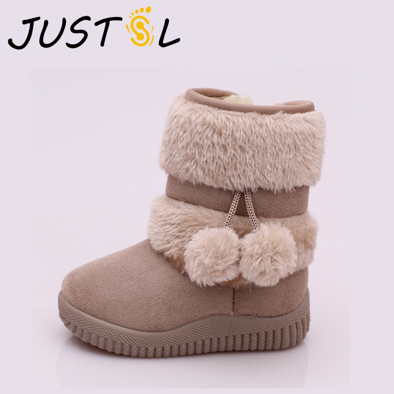 2018 Winter Baby Boys Girls Classic Comfortable Cotton Shoes Kids Keep Warm Boots Teenage Children Snow Boots