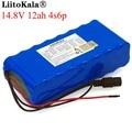 LiitoKala 14 8 V 12Ah 4s6p 18650 li-литий-ионный аккумулятор в упаковке ночник для рыбалки обогреватель шахтерский усилитель батареи с BMS