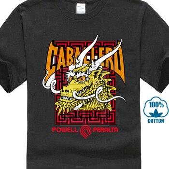 ff9165cc88 Inteligente T camisas Navidad nuevo Popular Powell Peralta Steve Caballero  dragón de los hombres negro T camisa S 3Xl corta cuello en O camisa de manga  ...