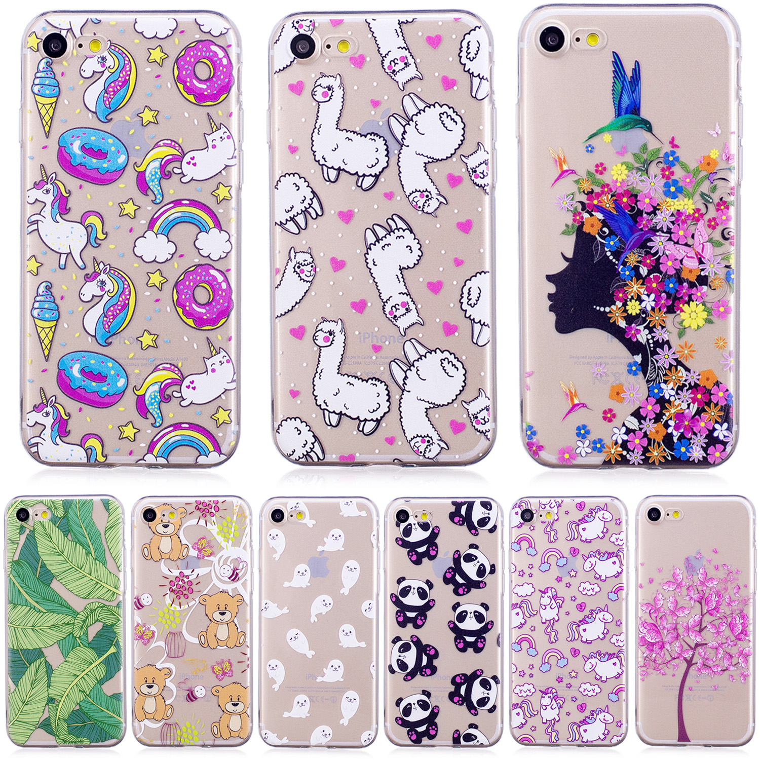 Soft TPU Fitted Case for Apple iPhone 7 4.7 inch Transparent Silicone Cover Phone Case for Apple i Phone 7 Phone7 4.7 Coque