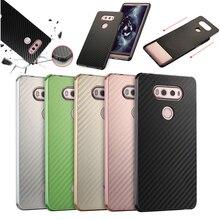 hot deal buy for lg g6 case g 6 aluminum metal frame+carbon fiber hard back cover case for lg g5 lg h868 shockproof phone shell for lg g6