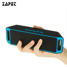 ZAPET Portable Wireless Speaker Bluetooth Receiver 3D Surround Stereo with TF Card FM Radio Built-in Mic Dual Speakers Soundbar