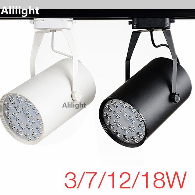 High power led track light track lighting rail lamp aluminum high power led track light track lighting rail lamp aluminum spotlight lamp for commercial store office mozeypictures Images