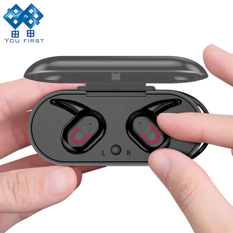 YOU FIRST Wireless Bluetooth Earphone 5.0 Headset TWS True Wireless Earbuds HD Stereo Wireless Headphones With Charging Box Mic