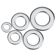 WALFRONT 300 шт. M2~ M6 нержавеющая сталь плоские и пружинные шайбы Ассортимент Набор пластиковый чехол резиновое кольцо гидравлическое уплотнение