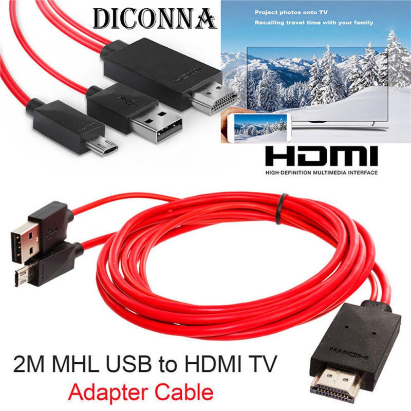 Micro USB to <font><b>HDMI</b></font> MHL to <font><b>HDMI</b></font> <font><b>Adapter</b></font> 1080P HD TV Cable <font><b>Adapter</b></font> for Android Samsung Phones 11 PIN image