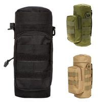 USA shipping outdoor Tactical Military Molle System Water Bags Water Bottle Bag Kettle Pouch Holder